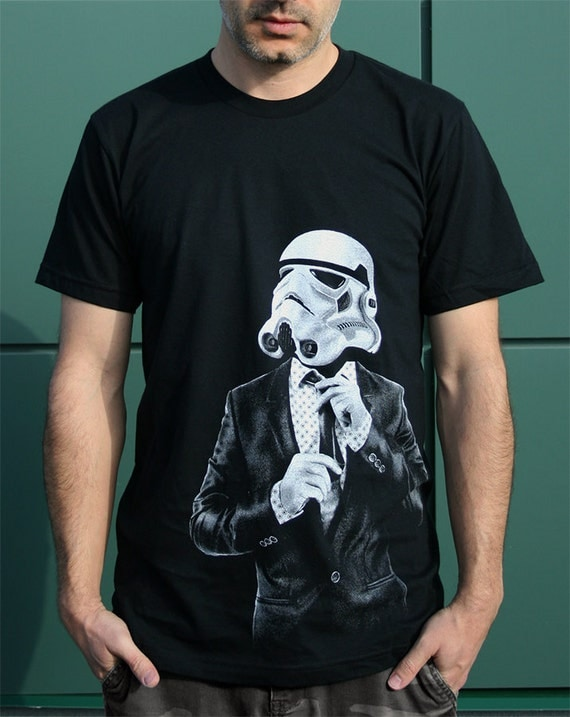 Star Wars Smarttrooper - Mens graphic tee ( Star Wars / Storm trooper t shirt )