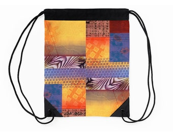 Cinch Sack,Unique Drawstring Backpack,Supplies for Back to School,Christmas Gifts for Artists,College Student Christmas Gifts