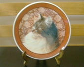 "Viintage - Ivory Cats By Lesley Anne Ivory ""Portrait Of Agneatha"" Collectible Plate 1991 - Enesco"