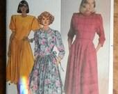 Vintage Butterick Misses Dress Pattern # 3457 Uncut Sizes 12 thru 16 Designer Belle France