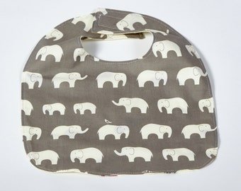 Organic Baby Bib Elephant / Modern Baby Baby Bib / Teething Bib / Drool Bib / Gender Neutral Gift Bib/ 100% Organic Cotton / Grey Elephant