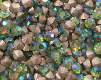 120 pp20 Peridot AB Swarovski Art 1028 Xilion Cut 2.7mm Rhinestones 3mm Peridot AB Rhinestones 9ss Peridot AB Crystals ss9 Peridot ab
