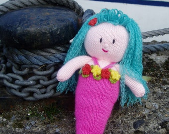 PDF Knitting Pattern - Maddie the Mermaid