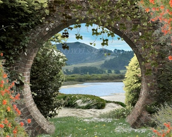 Garden archway digital background for your scrapbooking or digital photo projects