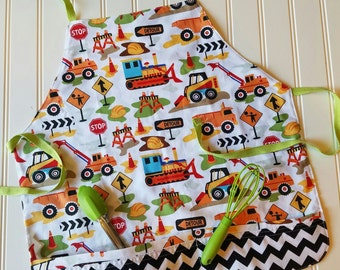 Kids-Aprons-Construction-Chef-Art-Cooking-Kitchen-Baking-Play-Dough-Summer-Garden-Back-To-School-Smocks-Holiday-Birthday-Toddler-Gifts