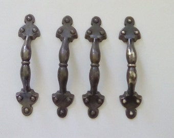 Set of 4 Vintage Cabinet Handles