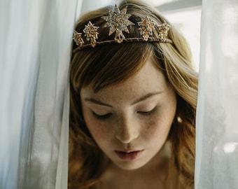 Starburst wedding tiara, star crown, bridal hair accessory - Celestia no. 2180