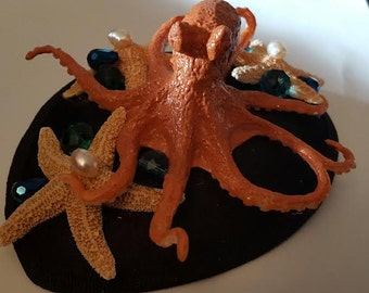 Octopus, Octopus hat, Octopus fascinator, Ready to ship, MsFormaldehyde, Steampunk, Cephalod,