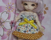 Tiny Flowers Strapless Dress for Lati White SP / Pukipuki