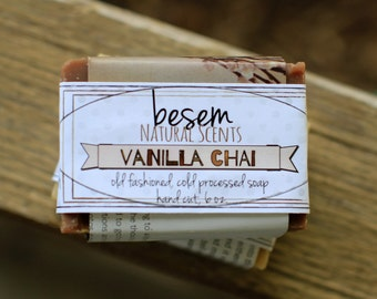 Vanilla Chai // palm free, goats milk soap, artisan, essential oil blend