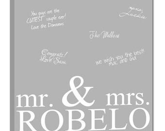 Wedding Guest Book Alternative Signature Canvas Reception Decor Wedding Sign 20x20