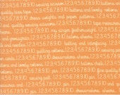 Preorder - Chestnut Street (20272 12) Pumpkin Sewing Text by Fig Tree & Co.
