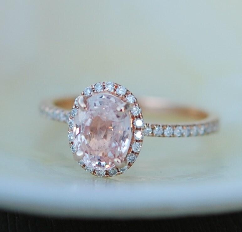 Peach Sapphire Ring Peach Sapphire Engagement By Eidelprecious