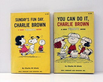 Peanuts vintage 1960s comic books. First Editions.