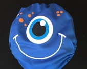 One Eyed Friendly Blue Monster All In One Pocket Cloth Diaper
