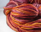 Autumn Glory  Sock Handpainted yarn