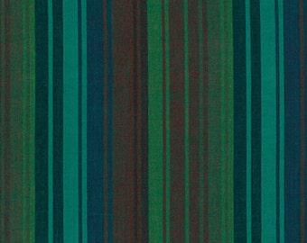 Kaffe Fassett Exotic Stripe Mallard Woven Cotton Fabric By The Yard