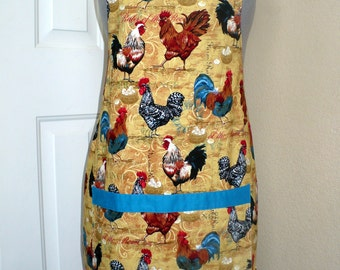 Roosters Chickens Apron