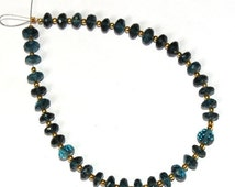 55% OFF SALE 20Pcs Genuine London Blue Topaz Faceted Rondelle Beads Briolette Size 6x6 mm Gemstone Briolette Semiprecious Beads B12