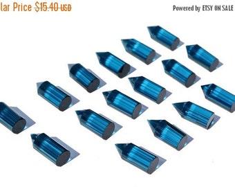 55% OFF SALE 2Pcs 1 Matched Pair AAA London Blue Quartz Faceted Pencil Briolette Size 20x8mm Pencil Point, Fancy Chandelier, Fancy Briolette