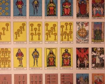 Uncut Tarot Card Sheet, Tarot Jewelry