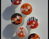 Fox Drawer Knobs • Woodland Fox Knobs • Red Fox • Drawer Pulls • Woodland • Dresser Knobs