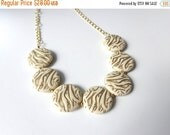 cream gold necklace, chunky necklace