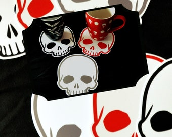 Skull coffee mug coaster