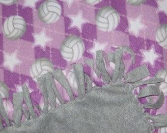Tied Fleece Blankets - No Sew Fleece Blankets - Volleyball