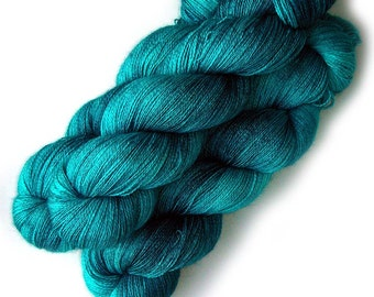 Lace Yarn Baby Alpaca, Silk and Cashmere - Totally Teal, 870 yards