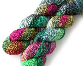 Tight Twist Handdyed Yarn MCN Fingering - Cactus Flower, 400 yards