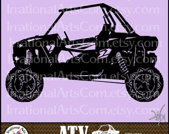 ATV Off-road Vehicle Set 2 - 1 eps & 1 svg Vinyl Ready Image and 1 png clipart graphics files {Instant Download}