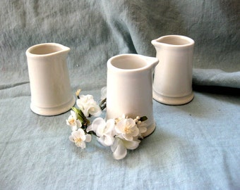 Vintage Homer Laughlin Best China Mini Creamesr, Set of Three, Mid Century Instant Collection
