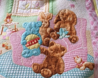 Baby Quilt Stuffed Animal Friends