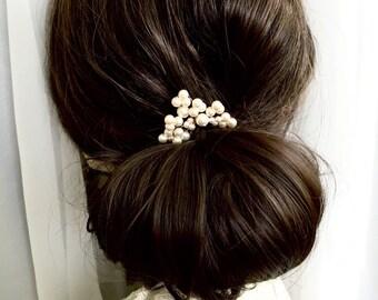 Wedding Hair pin, Pearl Hair pin, Pearl Bobby pin, U-Pin Bridal Hair Accessory, Swarovski Hair Accessory, Hair Pins ADALADE