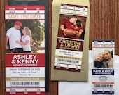 Sport Ticket Wedding Save the Date or Invitation / football / baseball / hockey