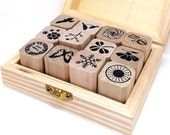 Nature Rubber Stamps, Insect Rubber Stamps, Flower Rubber Stamps