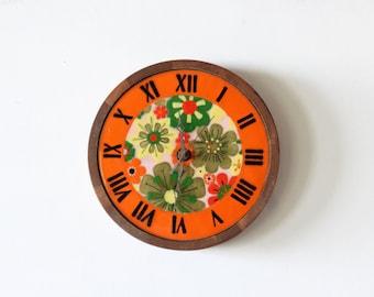 Italian Pottery & Teak Wall Clock