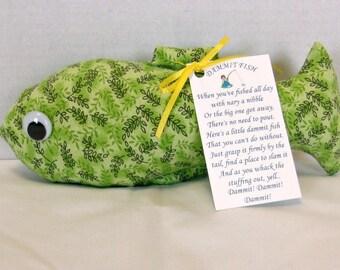 DAMMIT FISH Stress Relief Doll Green