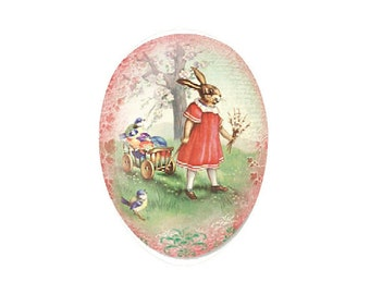 Made In Germany Papier Paper Mache Easter Egg Box  3.5 Inch  #519 P