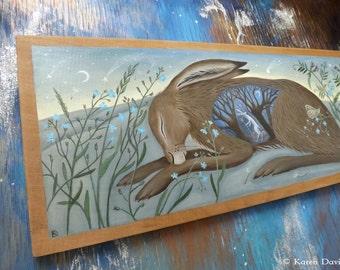 Original Art. Acrylic painting on wood.  'I used to be an Alchemist'