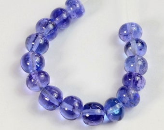4.8MM-5.1MM Tanzanite Smooth Rondelle Bead (15)