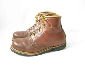 Vintage IRON AGE Steel Toe Work Boots. Size 8 Men's// 10 1/2 Women's