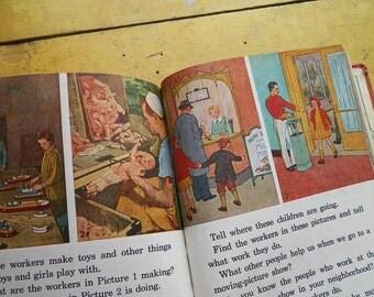 "Antique 1937 - Children's School Social Studies Book - ""Susans Neighbors"""