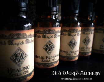 Spell Oils Old World Alchemy .50 or 1 Ounce . Choose your Intention . Witchcraft, Pagan, Wicca Rituals Spells and Magic