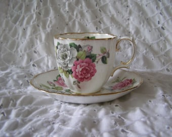 Royal Albert Evening Rhapsody Teacup Saucer Plate Set Roses