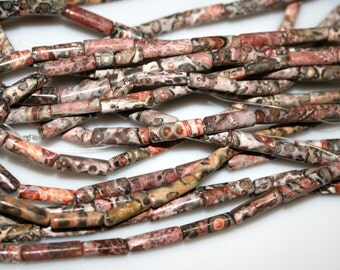 "Chohua Jasper Tube 4x12mm 15.75"" long"