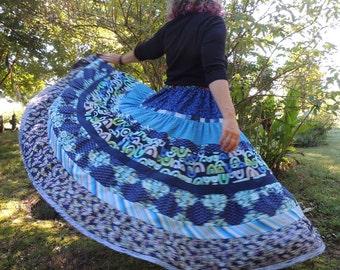 5-Tier Maxi Handmade Patchwork Skirt
