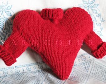 Heart Sweater Pillow / Unisex Gift Ideas