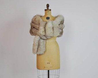 50s fox fur / Norwegian Fox fur stole /fox fur stole / 50s fox fur wrap